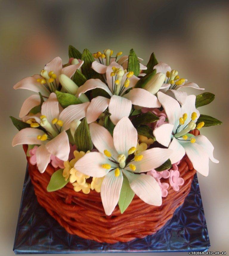 торт ваза с цветами фото рита гжель теперь